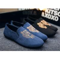 Buy cheap Autumn Slip On Vintage Loafer Shoes Embroidered Men Dress Shoes Black Blue from wholesalers