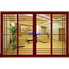 China Wood Grain Color Aluminum Sliding Doors For Luxury Houses wholesale