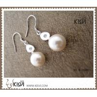 China 100% 925 Silver plated with rhodium Silver Gemstone Earring with Imitated Pearl W-AS883 wholesale