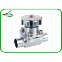 China Butt Welded Sanitary Diaphragm Ball Valve PTFE Seal Material , Minimized Dead Leg wholesale
