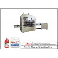 China 1L-1 Gallon Automatic Corrosive Liquid Filling Machine PLC Inline For Cleaner wholesale