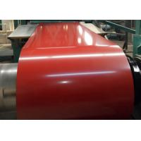 China PPGL Color Coated Steel Coil Top Painting 15 - 25μM 30g / M2 - 275g / M2 Zinc Coated wholesale