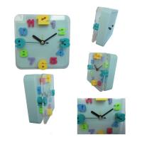 China Square digital clock with glass wholesale