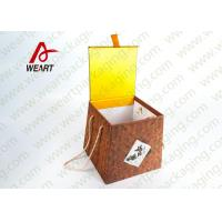 China Bamboo Made Food Container Customized Paper Box With Ribbon Fashion Style wholesale