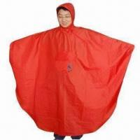 China Poncho for Bike, Waterproof, with PU Coating wholesale