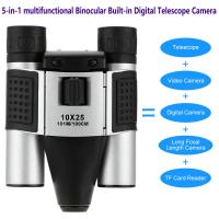 China DT08 Binocular Built-in Digital Telescope Camera Far Shoot 1.3MP Video Recorder 10x25 101M/1000M outdoor camping hiking wholesale