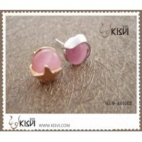 China Elegant designs 925 sterling silver pink opal stud earring W-AS1002 wholesale