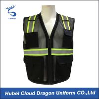 China Sleeveless Reflective Tape Security Guard Vest 100% Polyester OEM & ODM wholesale