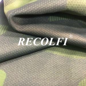 China Camo Print Recycled Mesh Fabric Roica Spandex X Lite Weight Top Green Tai Wan Yarns wholesale
