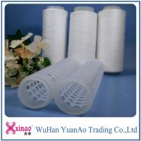 China AAA Grade 402 Raw Pattern 100% Spun Polyester Yarn On Plastic Cone wholesale