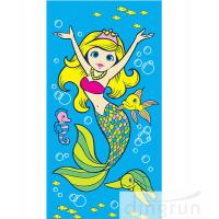 China Beautiful Promotional Products Beach Towels Cartoon Design Printing For Children on sale