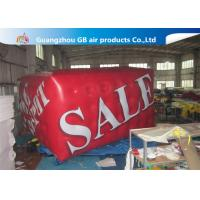 China Airtight Large Helium Balloons For Advertising , 0.18mm PVC Red Cuboid Helim Balloon wholesale
