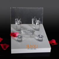 China Unique Diamond Ring Jewelry Display Stands Acrylic Tray 220×260×175 mm wholesale