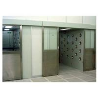China Auto Sliding Door Air Shower Booth With Powder Coated Wall / DC Motor wholesale