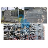 China Galvanized Surface Gabion Wall Baskets , Φ5mm Wire Stone Cages For Retaining Walls wholesale