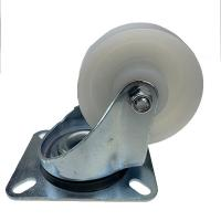 China White Color PA Roller Bearing Nylon Caster Wheels 80mm 100mm 125mm 150mm wholesale