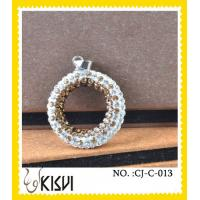 China Unique design CZ crystal & 925 silver round handcrafted crystal jewelry / crystal charm wholesale
