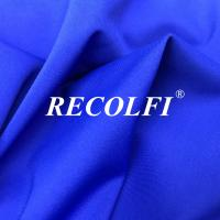 China Refined Power Stretch Recycled Swimwear Fabric , Solid Plain Bathing Suit Fabric wholesale