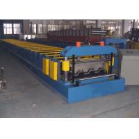 China Floor Deck Roll Forming Machine Chain Or Gear Box Driven System Hydraulic Cutting Device on sale