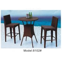 China 3pcs wicker rattan saloon club round bar  table and 2pcs armless chairs-8102 wholesale