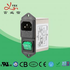 China 1-10A Socket Machine Plug In AC Line Filter With Fuse And On Off Switch wholesale