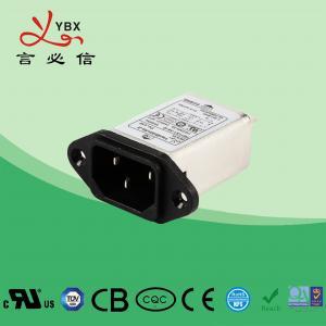 China Yanbixin Power Entry Module EMI Power Filter , 115V/250V Power Line Noise Filter wholesale