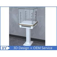 China Free 3D design modern fashion wooden tempered glass display cabinets with 4 pcs led spot lights wholesale