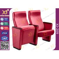 China Full Upholstered Fabric Cover Auditorium Chairs / Seating With Hidden Fixed Leg wholesale
