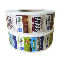 China Adhesive Custom Printed Custom Product Labels Waterproof On Rolls For Food Packaging on sale
