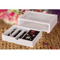 Quality Cute White Wooden Jewelry Organizer Box , Customized Jewelry Gift Boxes for sale