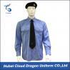 China Soft CVC Twill Security Guard Uniform Shirts / Long Sleeve Dress Shirt , OEM / ODM Service wholesale