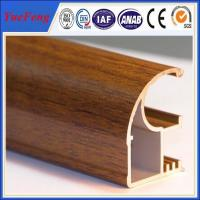 China Wood finished aluminum extrusion profiles,aluminum window frames price for South Africa wholesale