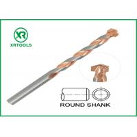 China Round Shank Metric Masonry Drill Bits Copper Plated L Flute For Concrete Brick wholesale