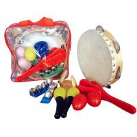 China Custom Orff Kids Musical Instrument With Plastic Bag 6 Pieces Wood Percussion Set wholesale