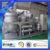 China waste black engine oil recycling distillation refinery to diesel oil on sale