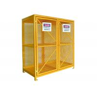 China Expanded Metal Oxygen Cylinder Storage Cages , Twin Door Gas Can Storage Cabinet wholesale