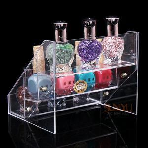 China SGS Acrylic 3 Tiers Nail Polish Display Organizer Handmade Custom Digital Printing wholesale