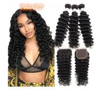 China 100% Brazilian Human Hair Extensions Deep Wave Virgin Hair Double Weft wholesale