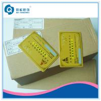 China Gold Hot Stamping Plastic Card Printing , CR80 PVC Business Card With Serial Number on sale
