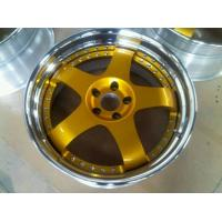 China BSL16/Gold Paint center disk wheels/3 piece forged wheels for Acura/step outer lip polish wholesale