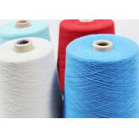 China Dyed 100% Spun Polyester Yarn Twist 16 -18 TPI For Knitting And Weaving wholesale