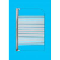 China Obscure Tempered Glass Bath Shower Screens , Square Over Bath Shower Screen Door on sale