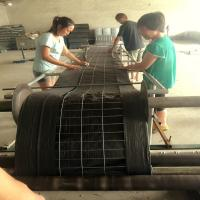 """UV Resistance 2""""x4"""" Welded wire back and PP landscape fabric 14 ga silt fence"""