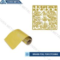 China Soft Annealed C26000 C27000 Rolled Brass Foil Roll For Heating Foils / Lamination wholesale