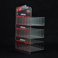 China Custom Plastic E - Cigarette Display Stand Transparent  More Rows More Tiers wholesale