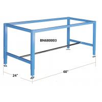 """Quality Blue Color Industrial Work Benches 60"""" Overall Width Powder Coated for sale"""
