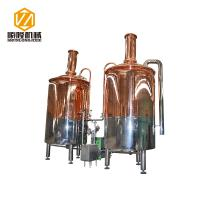 China Red Copper Mini Micro Beer Brewing Equipment 3HL Semi Auto / Automatic Control wholesale