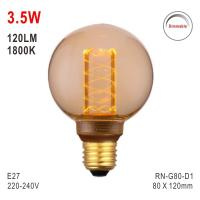Buy cheap G80 Bulb, Deco Light, E27 LED Bulb, Fashionable Glass Bulb, 1800K Lamp from wholesalers