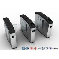 China Stadiums Fingerprint Optical Turnstile / Entrance Turnstiles Swing Barrier Brushed wholesale