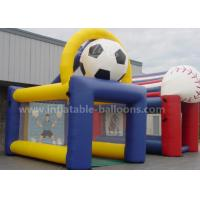 China 6.5M Outdoor Inflatable Sports Games , Inflatable Soccer Shot Game With Customized Printing wholesale